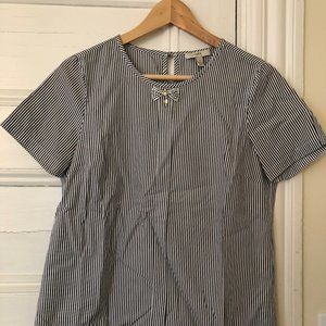 Small J.Crew Striped Blouse - bad picture